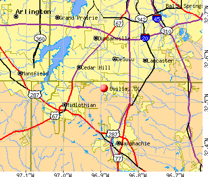 Ovilla, TX map