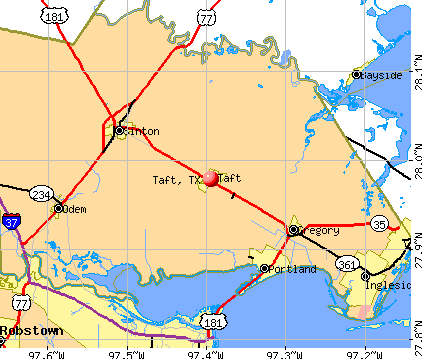 Taft, TX map