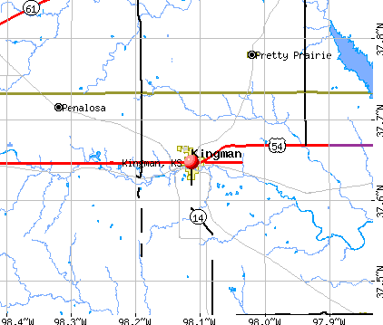 Kingman, KS map