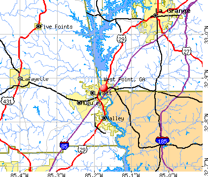 West Point, GA map