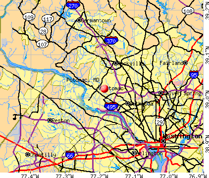 Potomac, MD map
