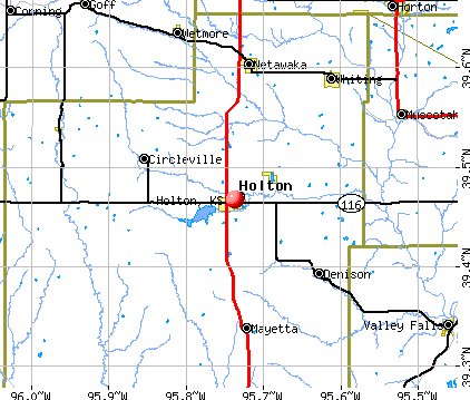 Holton, KS map