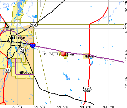 Clyde, TX map