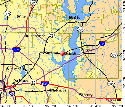 Rowlett, TX map