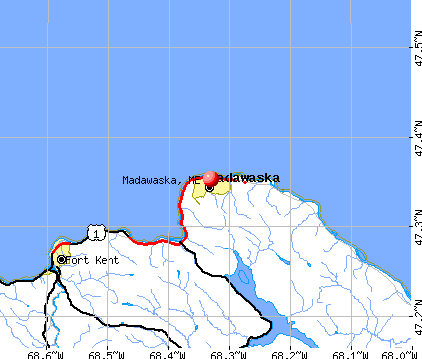 Madawaska, ME map