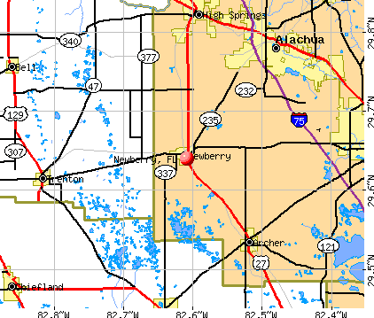 Newberry, FL map