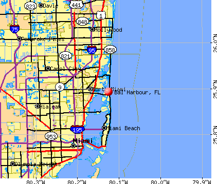 Bal Harbour, FL map