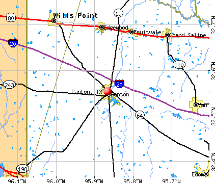 Canton, TX map