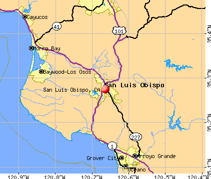 San Luis Obispo, CA map