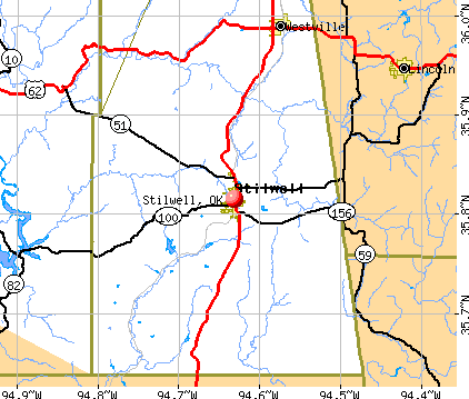 Stilwell, OK map