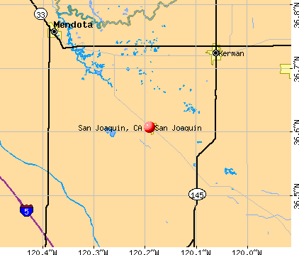 San Joaquin, CA map