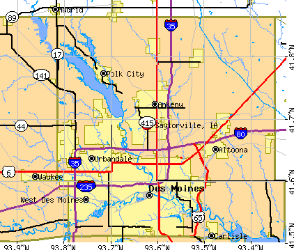 Saylorville, IA map
