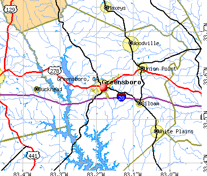 Greensboro, GA map