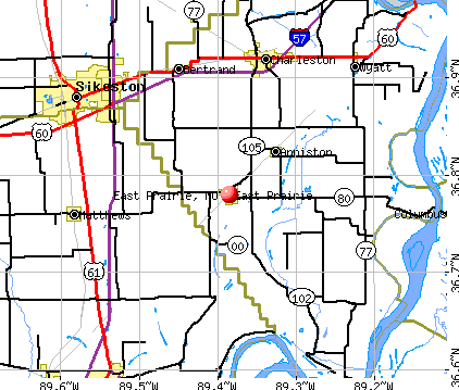 East Prairie, MO map