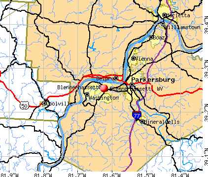 Blennerhassett, WV map