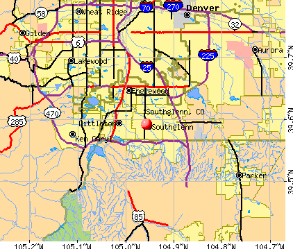 Southglenn, CO map