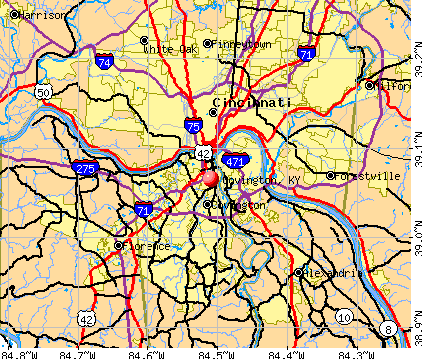 Covington, KY map