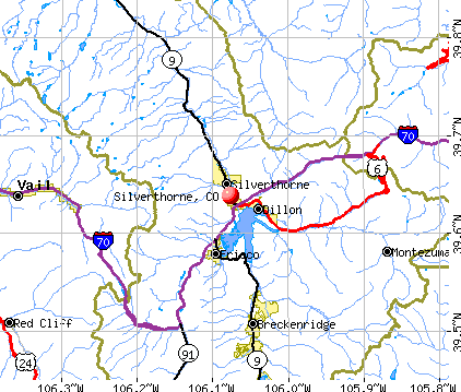 Silverthorne, CO map