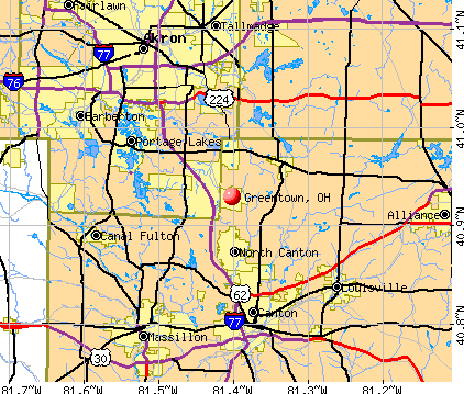 Greentown, OH map