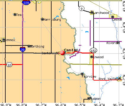 Canton, SD map