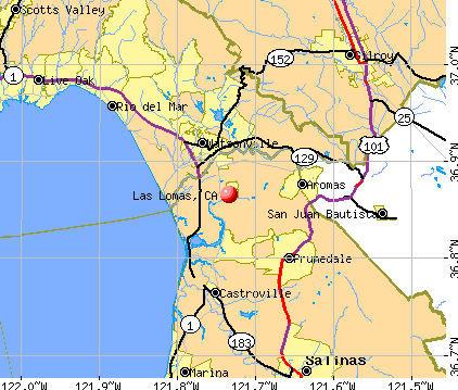 Las Lomas, CA map