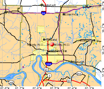 Melody Hill, IN map