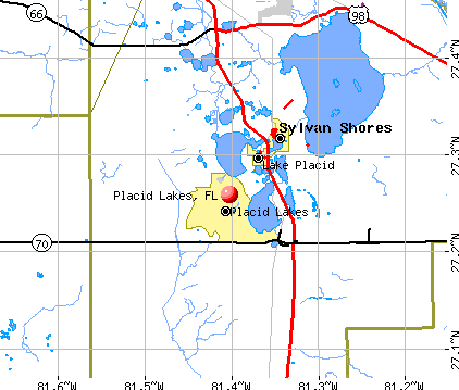 Placid Lakes, FL map