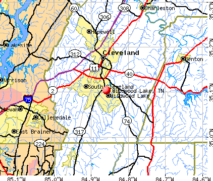 Wildwood Lake, TN map