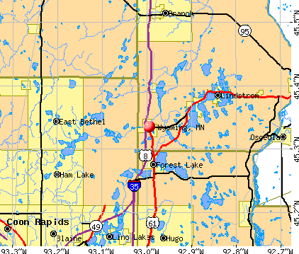 Wyoming, MN map