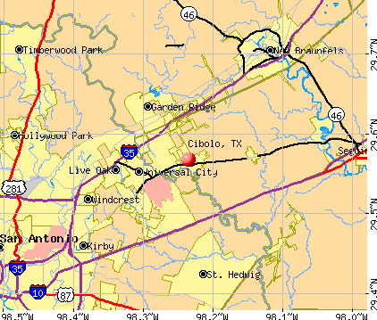 Cibolo, TX map