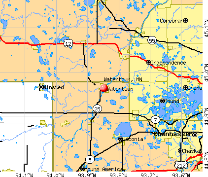Watertown, MN map