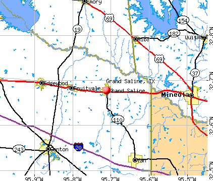 Grand Saline, TX map