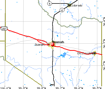 Quanah, TX map