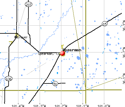 Spearman, TX map