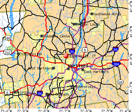 Blue Hills, CT map