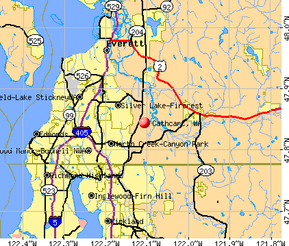 Cathcart, WA map