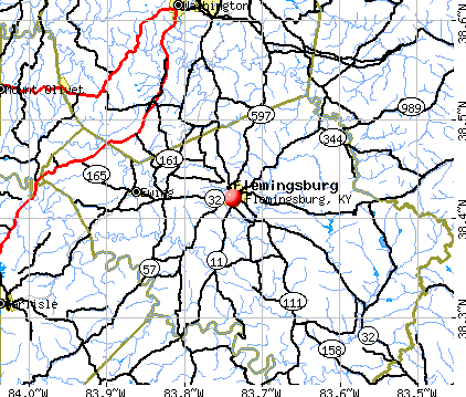 Flemingsburg, KY map