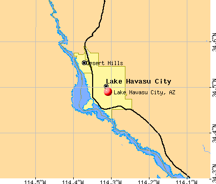 Lake Havasu City, AZ map
