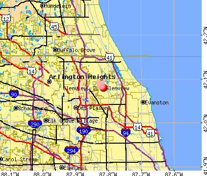 Glenview, IL map