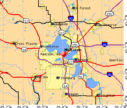 Madison, WI map