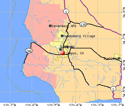 Lompoc, CA map