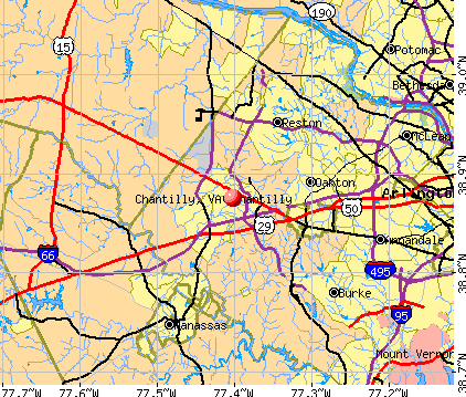 Chantilly, VA map