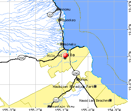 Hilo, HI map