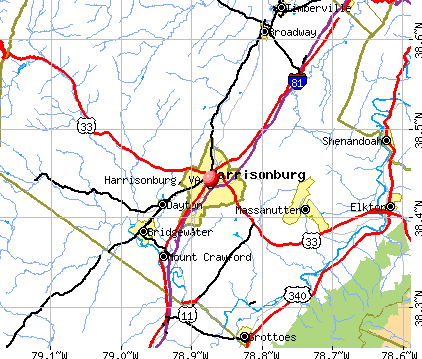 Harrisonburg, VA map