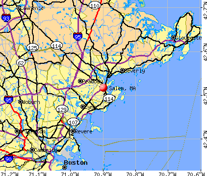 Salem, MA map