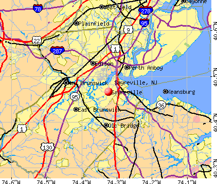 Sayreville, NJ map