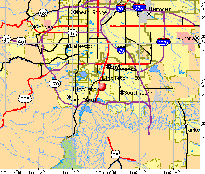 Littleton, CO map