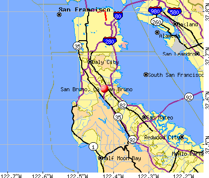 San Bruno, CA map