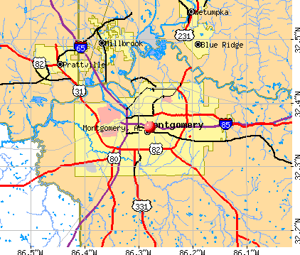Montgomery, AL map