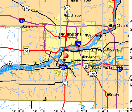 Rock Island, IL map
